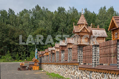 Fence and wooden structures