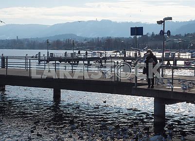 Pier in Zurich