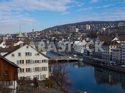 Река Лиммат в Цюрихе
