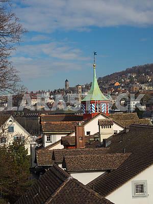 Крыши зданий в Цюрихе