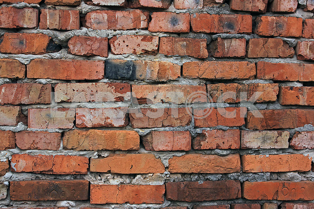 Texture of red brick wall — Image 68702