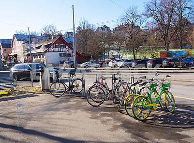Велопарковка в Цюрихе