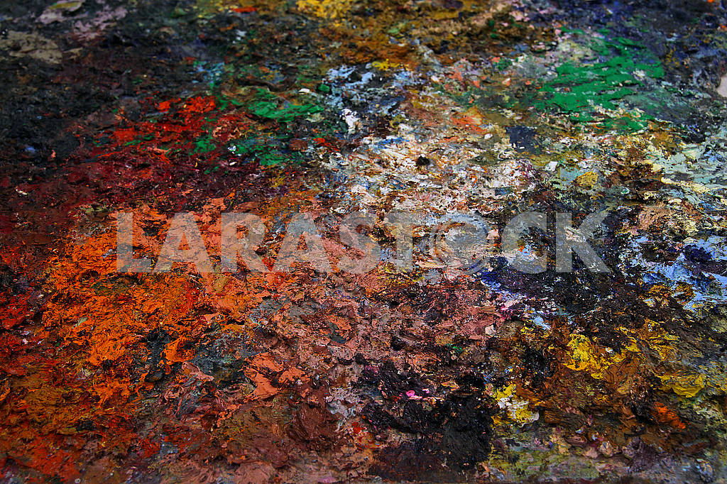 Close-up of a multicolored palette — Image 68922