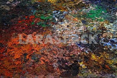 Крупный план разноцветной палитры