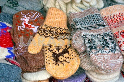 Children's mittens for Christmas
