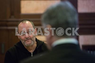 Jean Reno and Peter Poroshenko