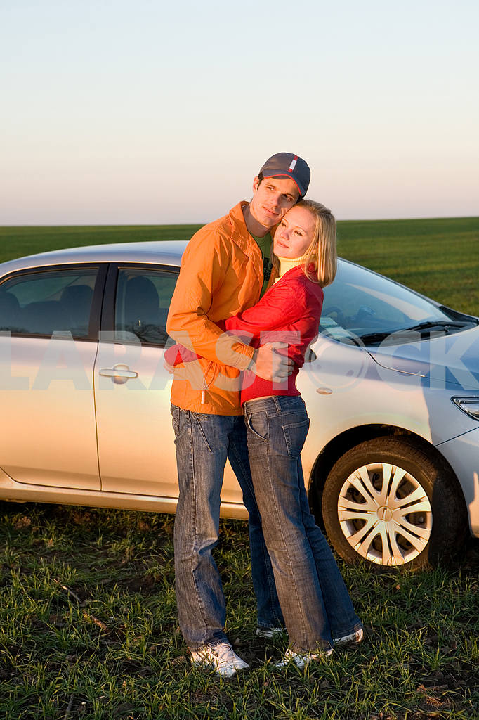 Couple with their new car  — Image 6920