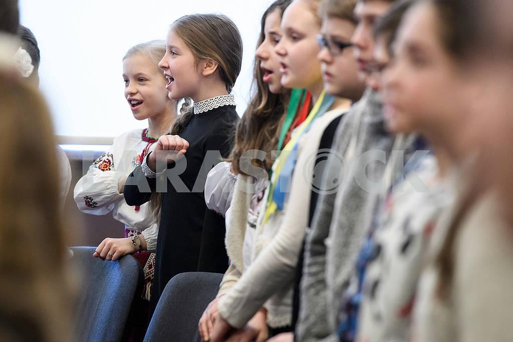 Pupils in the Ukrainian school in Riga — Image 69274