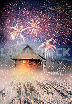 Alpine hut for Christmas
