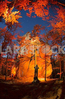 Dovbush Rocks night