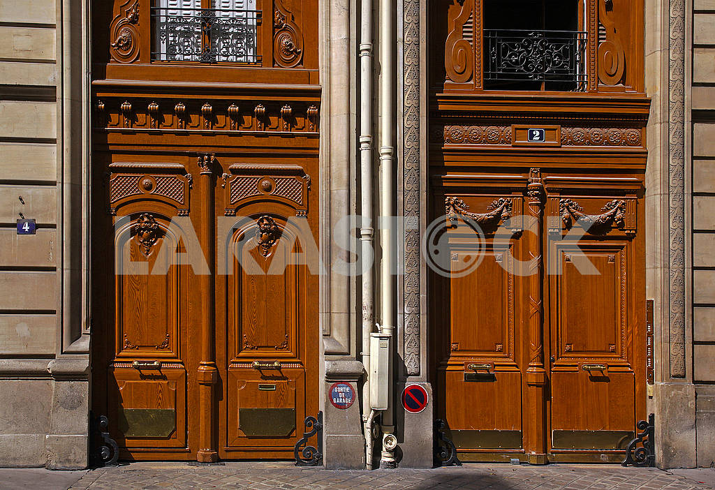 Two old French doors — Image 69455