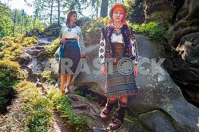 Gutsulka in the Carpathian forest