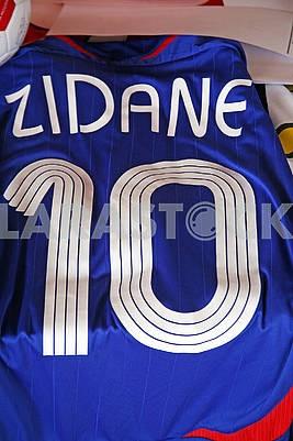 Zidane original football jersey