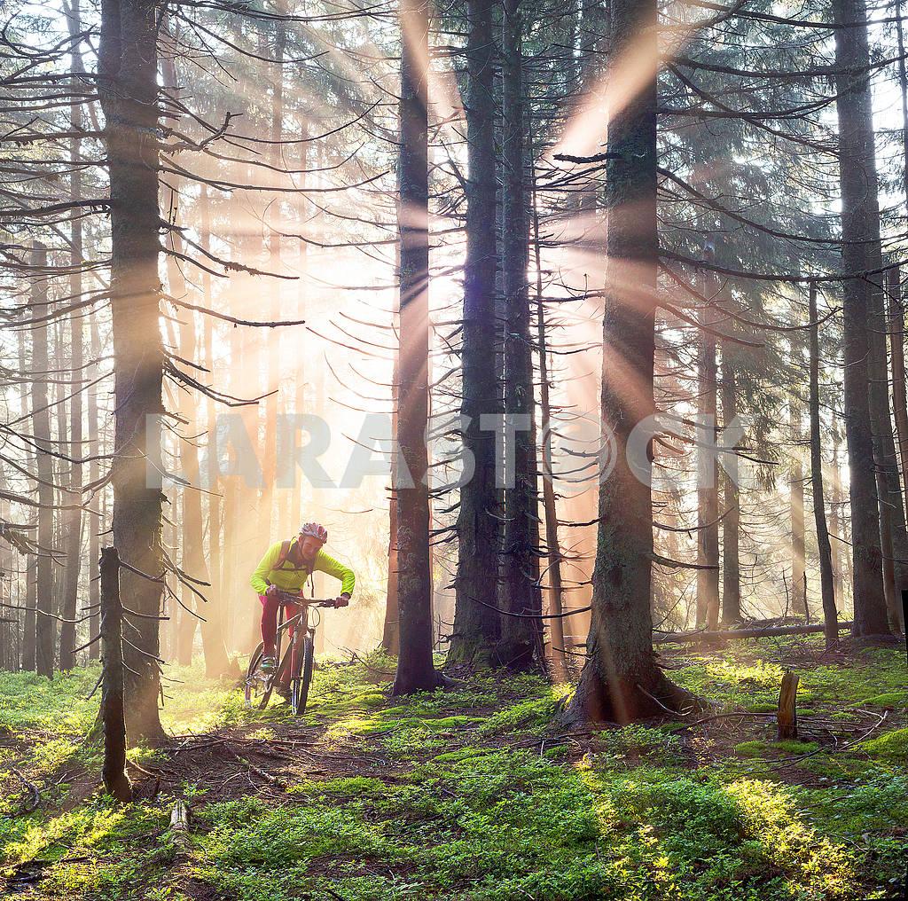 Dawn rays mountain cycling — Image 69856