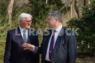 Frank-Walter Steinmeier and Petro Poroshenko