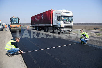 Repair of the highway Kiev - Odessa