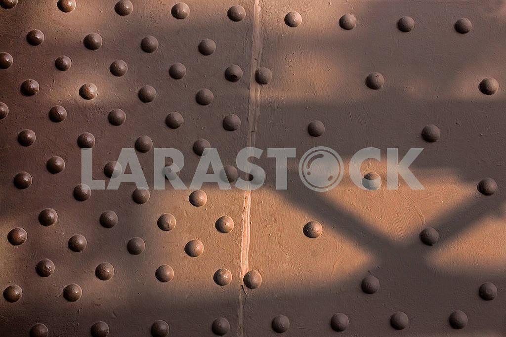 Close-up big convex rivets — Image 70086