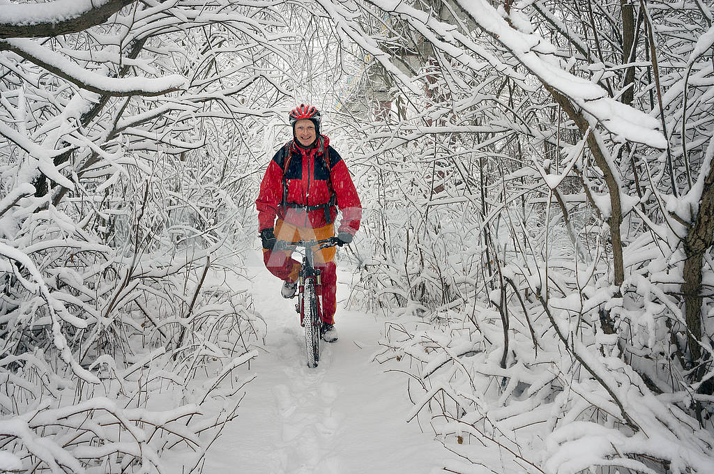 A walk in bicycle  snowfall — Image 70098