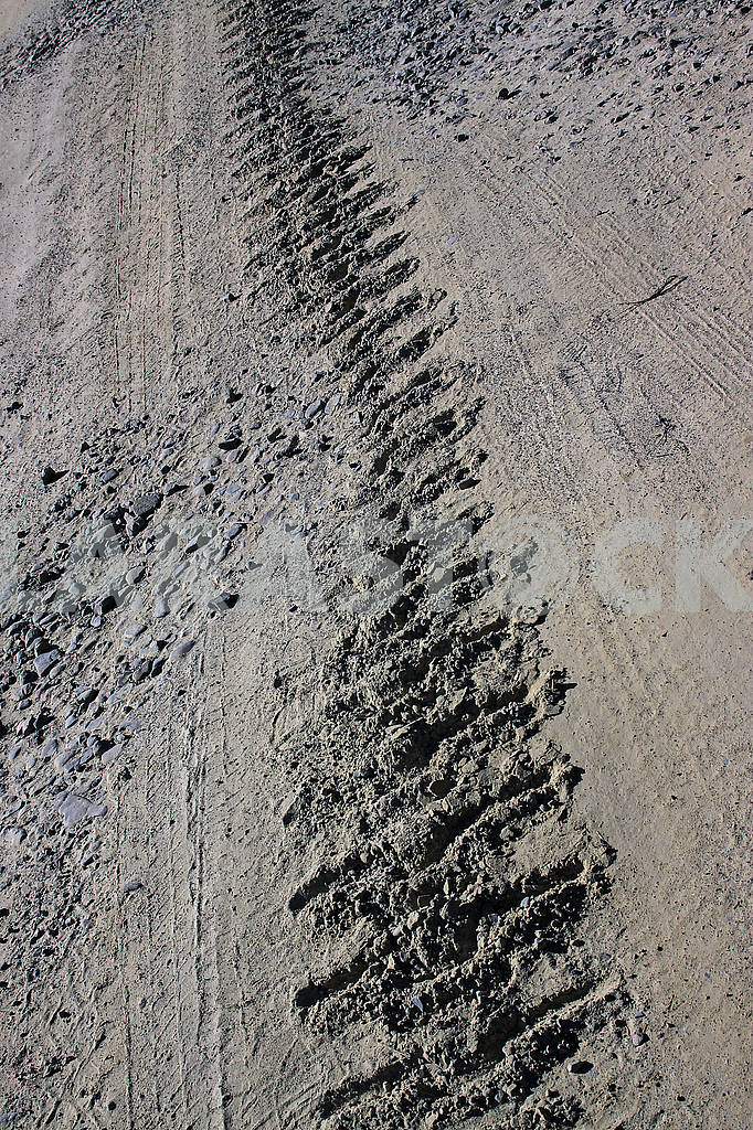 Track of a crawler tractor — Image 70122