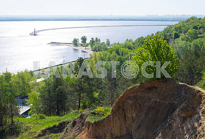 View of the water intake of the Kiev HPP
