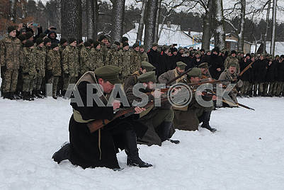 Historical reconstruction of the combat of the troops of the UPR against the Bolsheviks for Boyarka