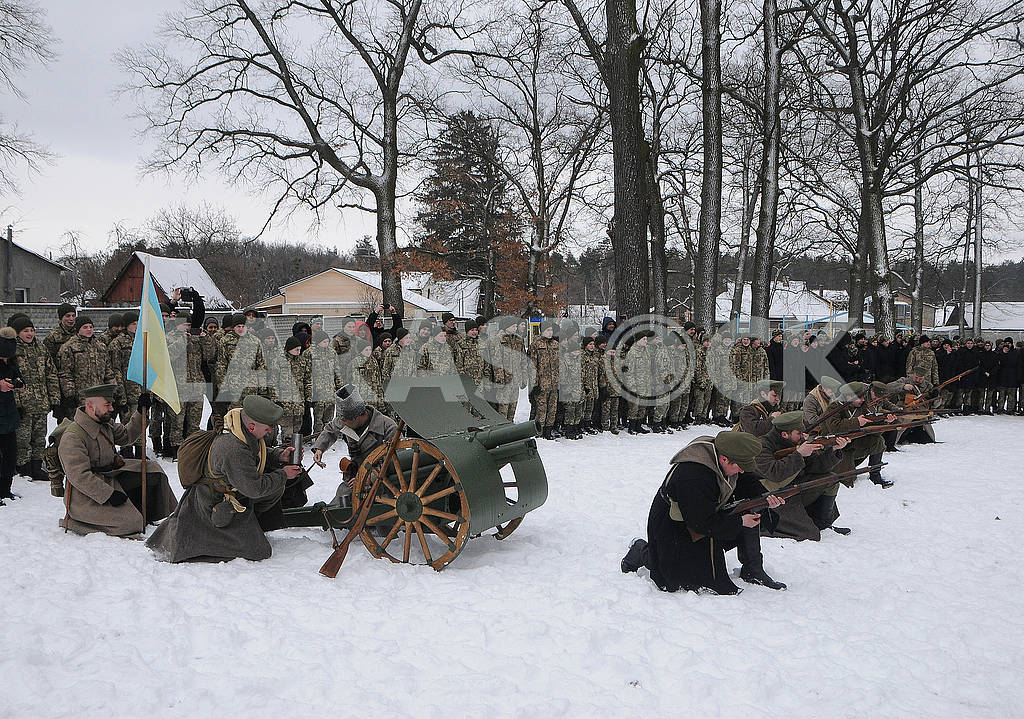 Historical reconstruction of the combat of the troops of the UPR against the Bolsheviks for Boyarka — Image 70396