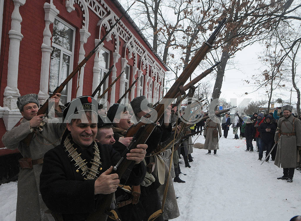 Historical reconstruction of the combat of the troops of the UPR against the Bolsheviks for Boyarka — Image 70401