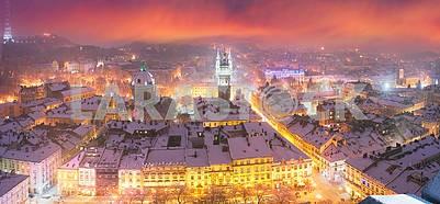 Снежное Рождество Львов