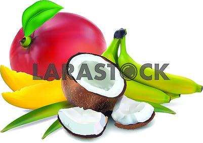 Кокос, мангои бананы