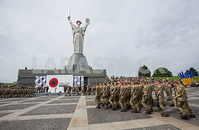 Military servicemen of the Armed Forces during the oath