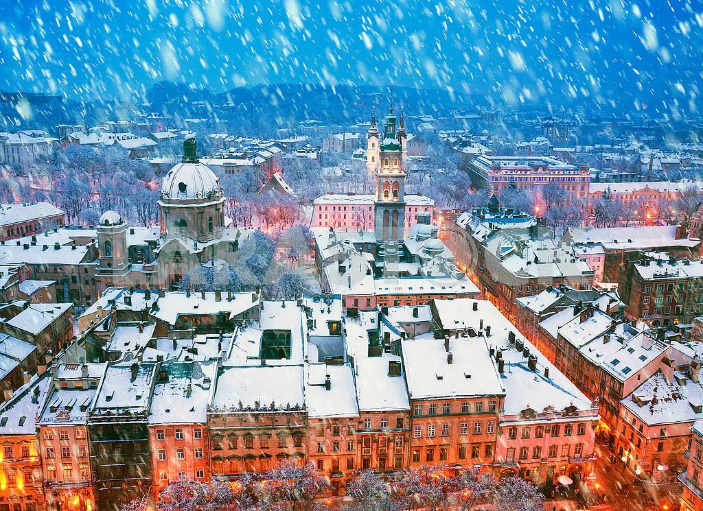 Snowy Christmas Lviv — Image 70575