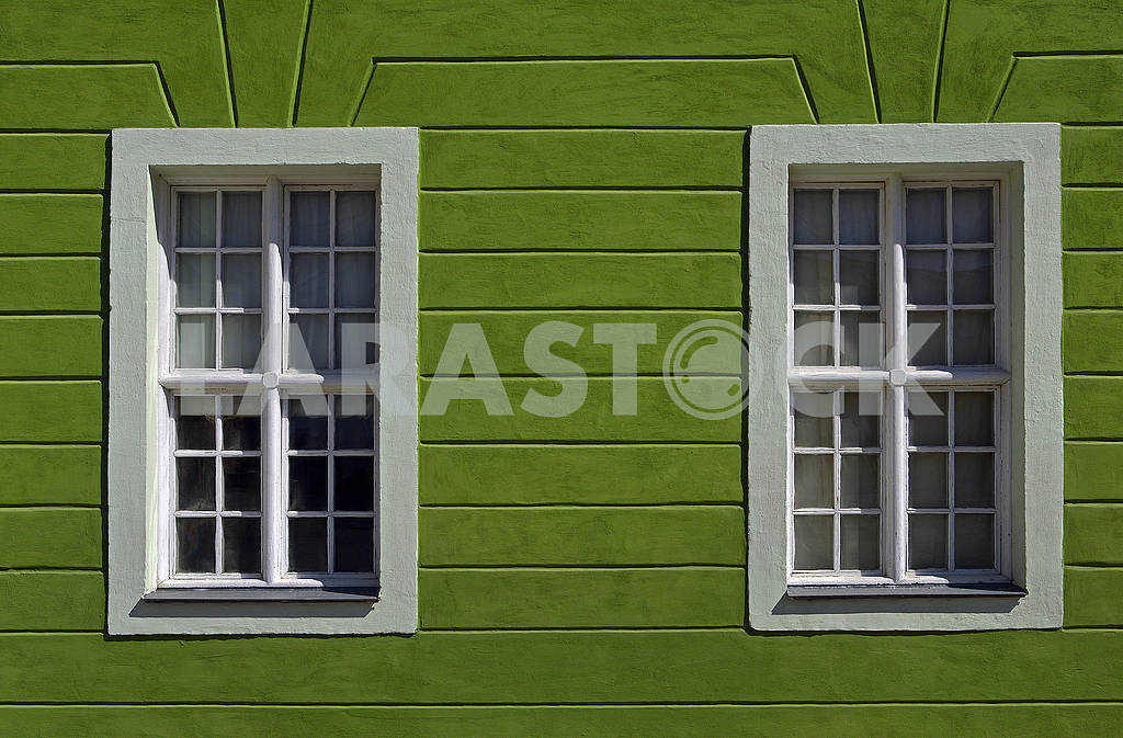 Part of facade of old building with green wall — Image 70763