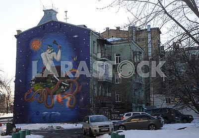 """Мурал """"Украинский Святой Георгий"""""""