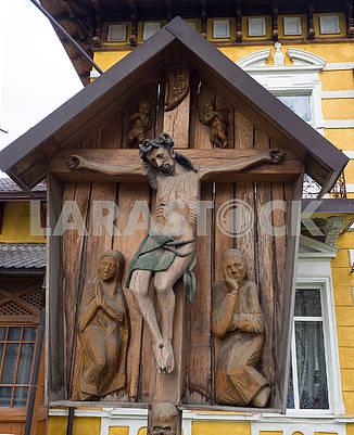 Wooden sculpture Crucifix