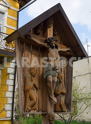 Wooden sculpture Crucifix