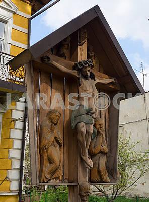 Деревянная скульптура Распятие