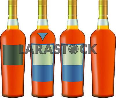 Bottles with cognac
