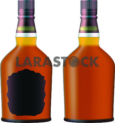 Bottles with cognac
