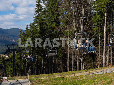 The lift in Bukovel