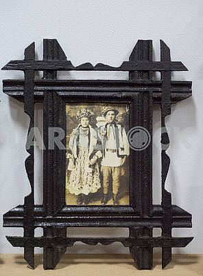 Фотография гуцулов в рамке