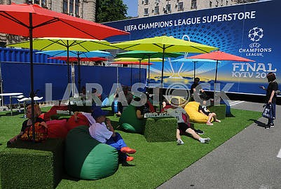 Fan zone of Champions League on Khreshchatyk