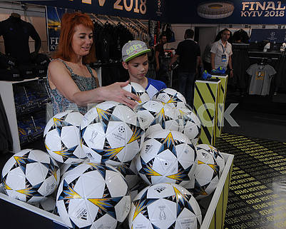 Balls of Champions League on Khreshchatyk