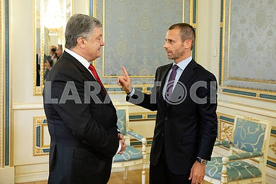 Petr Poroshenko and Alexander Cheferin