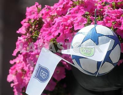 Официальный мяч ЛЧ на Крещатике