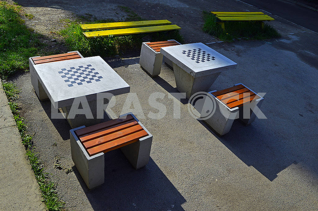 Two concrete chess tables — Image 71205