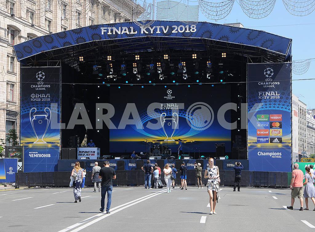 Football fans on Khreshchatyk — Image 71209