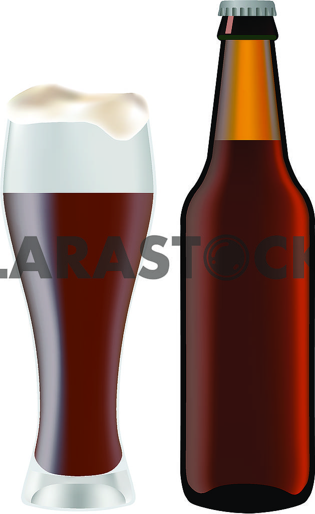 Bottle with beer and glass — Image 71219