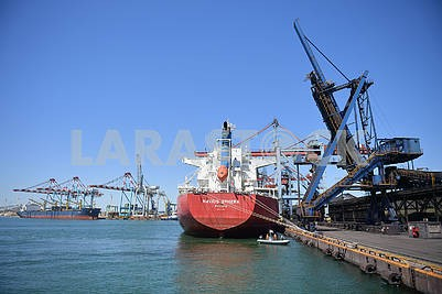 A ship in the Odessa seaport