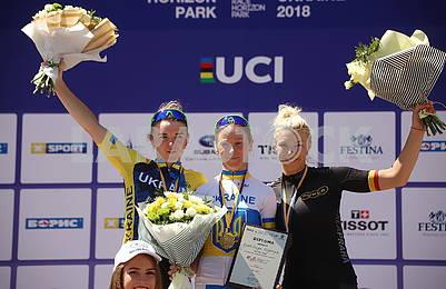 The winners of the bike race