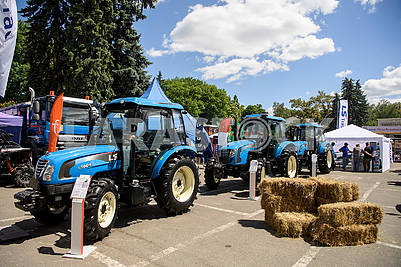 Tractors at the exhibition